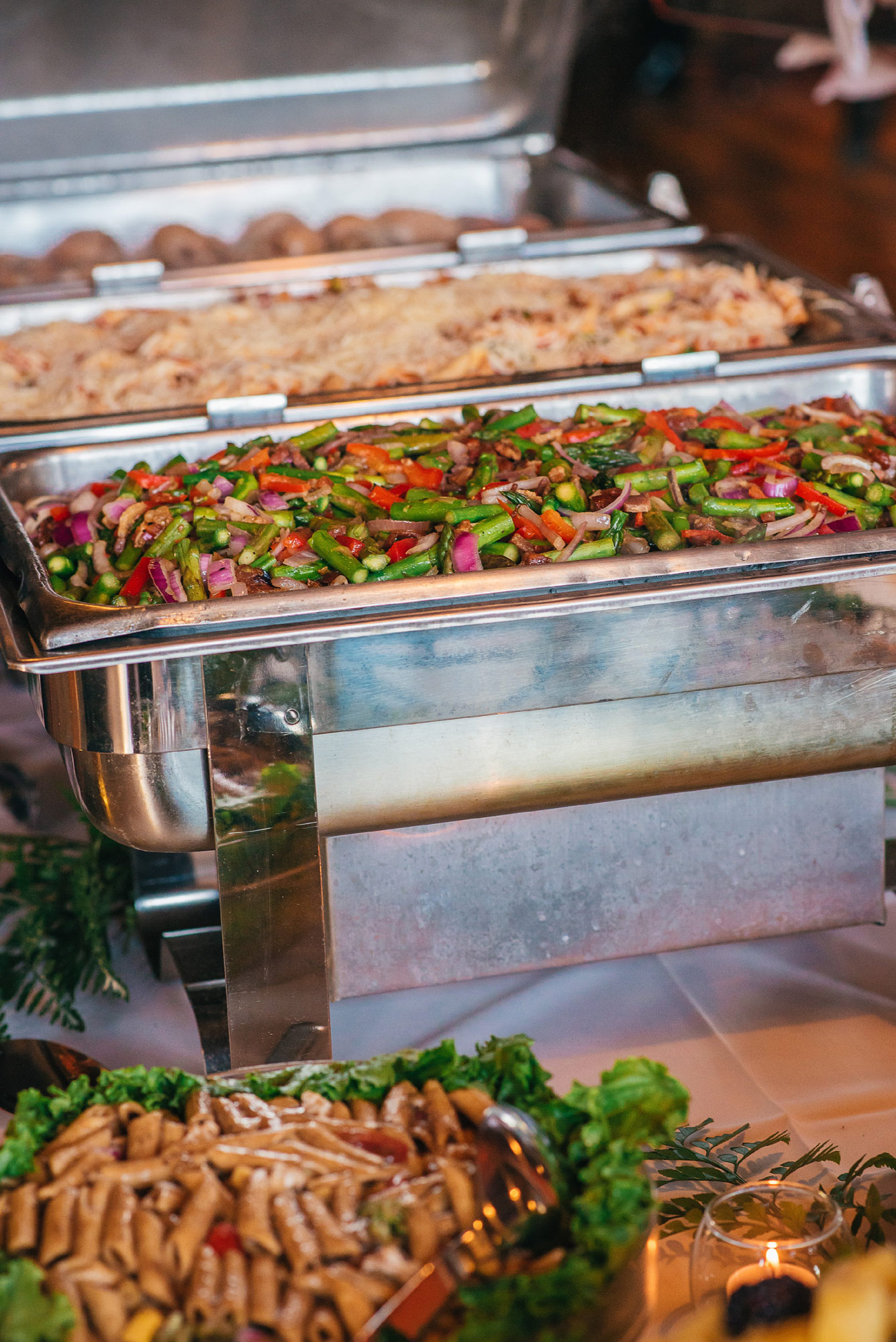 modern buffet wedding menu ideas - chef jack's catering